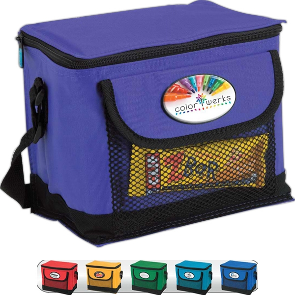 I-cool (tm) Eco-lifestyle (tm) - Watertight Deluxe 6-can Cooler With Webbed Pocket And Foldaway Bottom Stiffener Photo