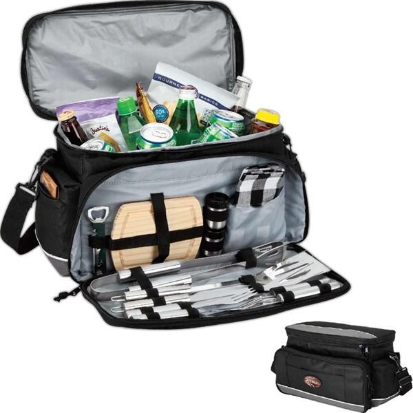 15-can Cooler Bag With Picnic/bbq Set Photo