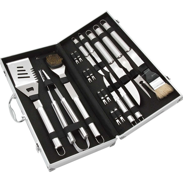18 Piece Stainless Steel Bbq Set Photo