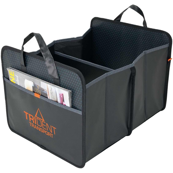 Trunk Organizer With Diamond Pattern And Front Pocket Photo