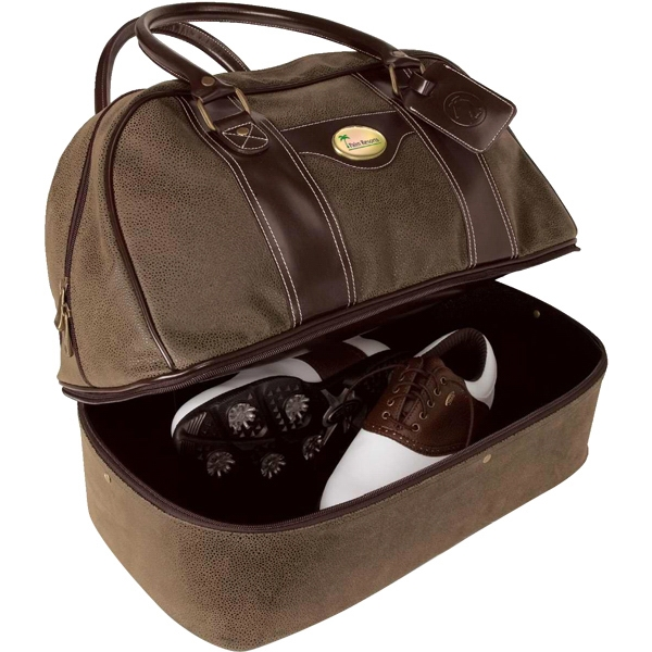 Double-decker Bag With Separate Shoe And Clothing Compartments Photo