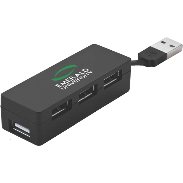 Compact 4-port 2.0v USB hub