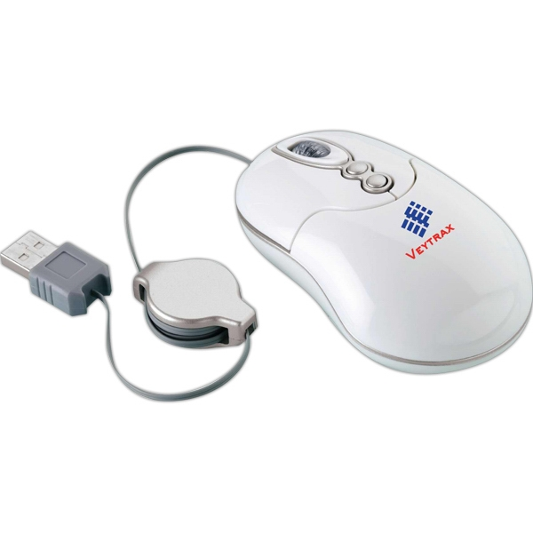 Medium Size 5-key Laser Mouse With Retractable Usb Cord Photo