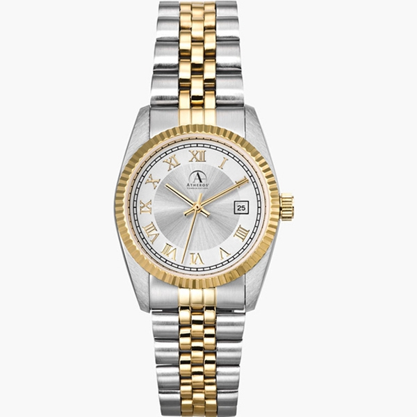 Men's - Watch With Two Tone Silver And Gold Finish Photo