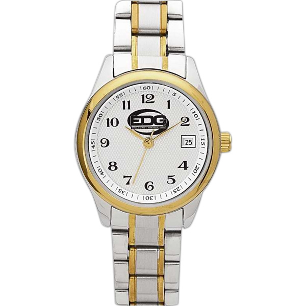 Ladies' - Watch With Two Tone Silver And Gold Finish And Date Display Photo