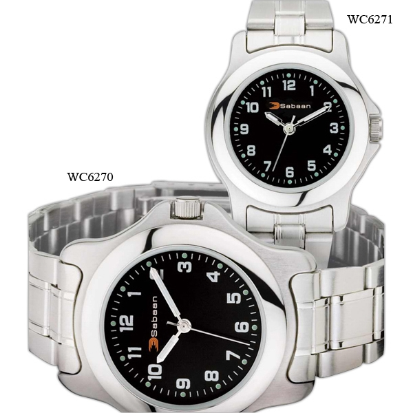 Ladies' - Silver Finish Watch With Folded Steel Bracelet, Mineral Crystal And Metal Case Photo
