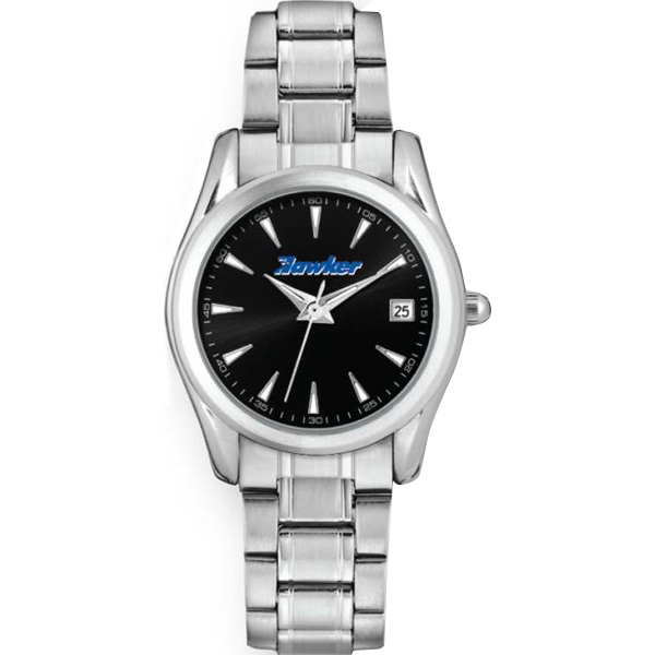 Ladies' - Watch With Folded Steel Bracelet, Date Display And Mineral Crystal Photo