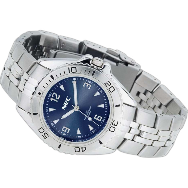 Unisex Water Resistant Watch With Metal Case And Silver Finish Photo