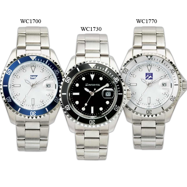 Men's - Watch With Silver Finish And Magnified Date Display Photo