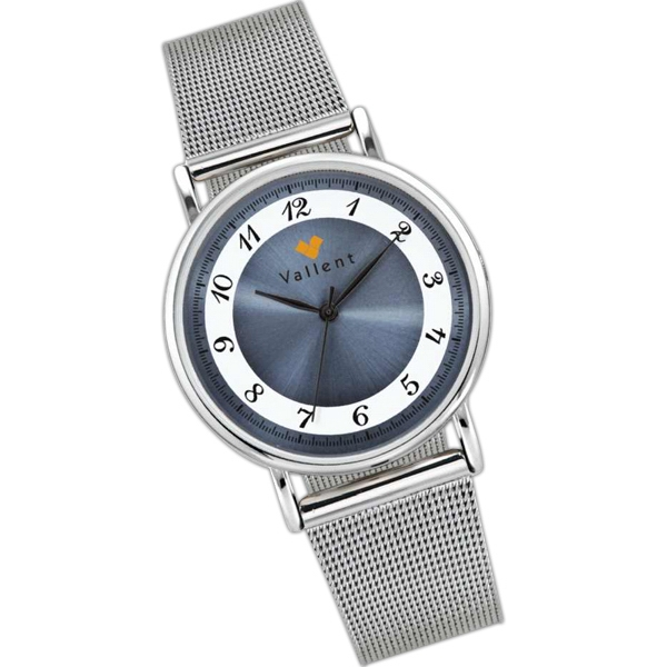 Blue - Watch With Metal Case And Sunray Dial Photo
