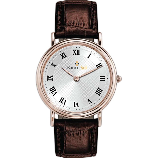 Men's - Polished Rose Gold Finish Watch Photo