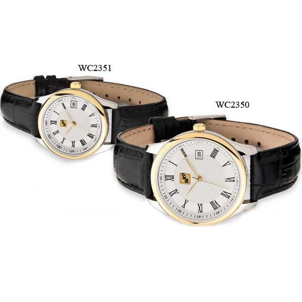 Men's - Watch With Two Tone Gold And Silver Finishing And Date Display Photo