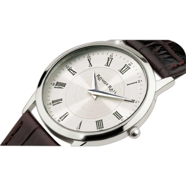 Men's - Slim Style Watch With Solid Steel Case And Silver Finishing Photo