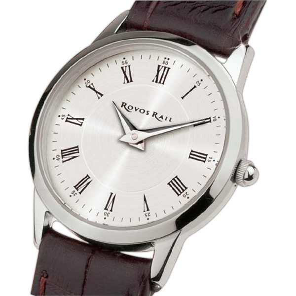 Ladies' - Slim Style Watch With Solid Steel Case And Silver Finishing Photo