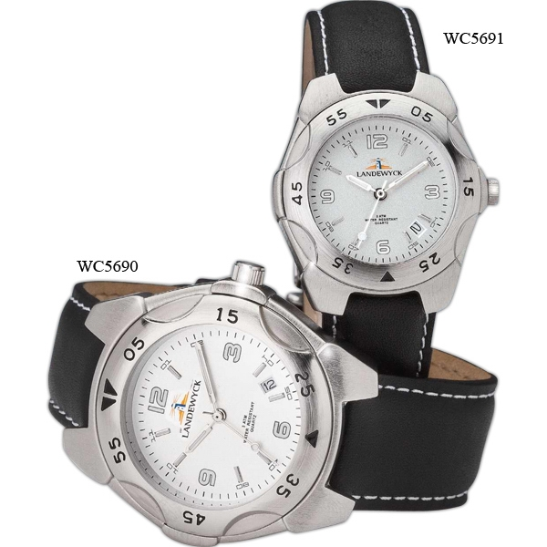 Men's Sport Style Watch With Natural Leather Strap Photo