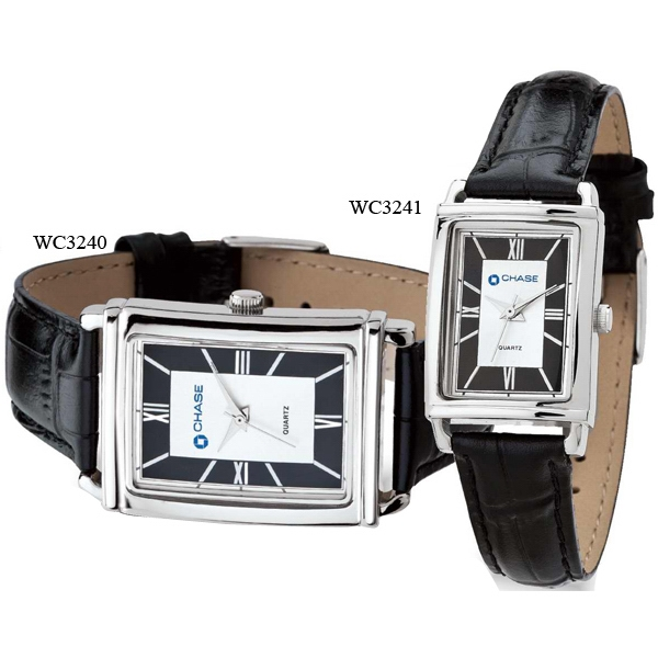 Men's Watch - Classic Style Watch With Crocodile Pattern Leather Strap Photo