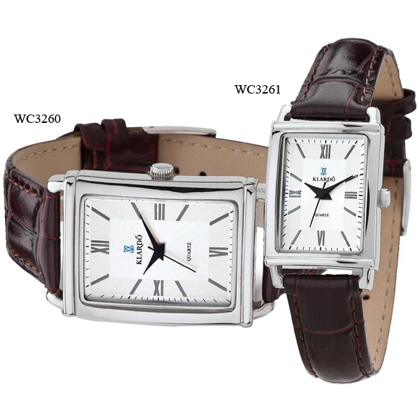 Men's Watch - Classic Style Watch With Dome Mineral Crystal And Crocodile Pattern Leather Strap Photo