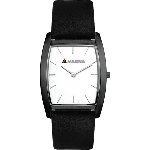 White - Watch With Slim Elegant Design And Black Finish Photo