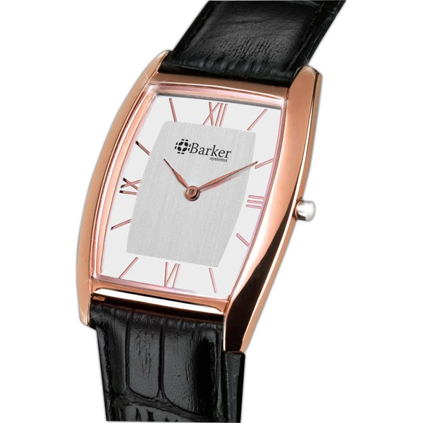 Watch With Slim Elegant Design And Rose Gold Finish Photo