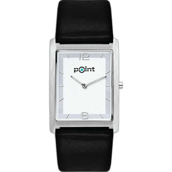 Watch With A Sleek And Slim Compact Design With Natural Leather Strap Photo