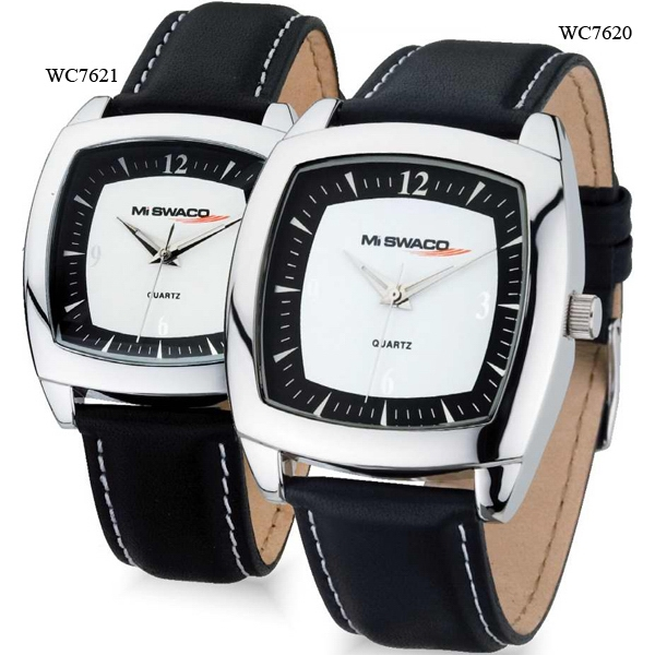 Ladies' - Watch With Domed Mineral Crystal And Genuine Leather Strap Photo