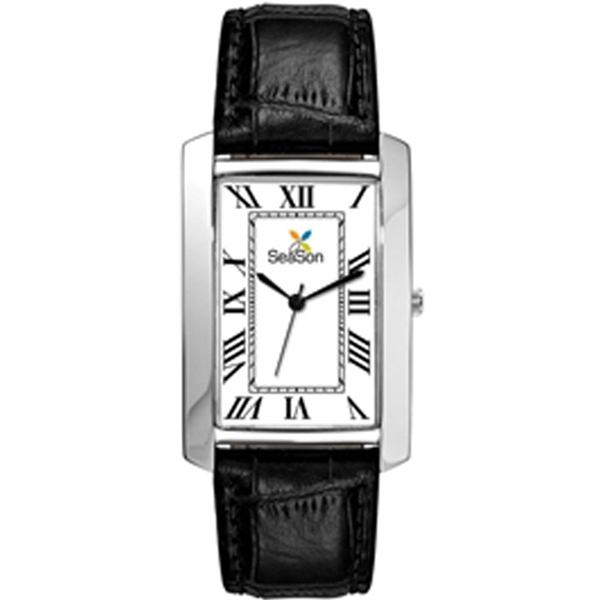 Men's - Polished And Brushed Silver Finish Watch Photo