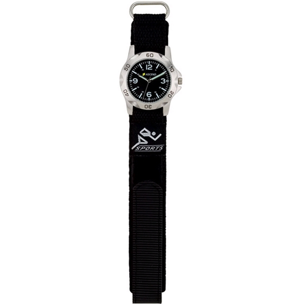 Unisex Wristwatch With Nylon Straps And Metal Case Photo