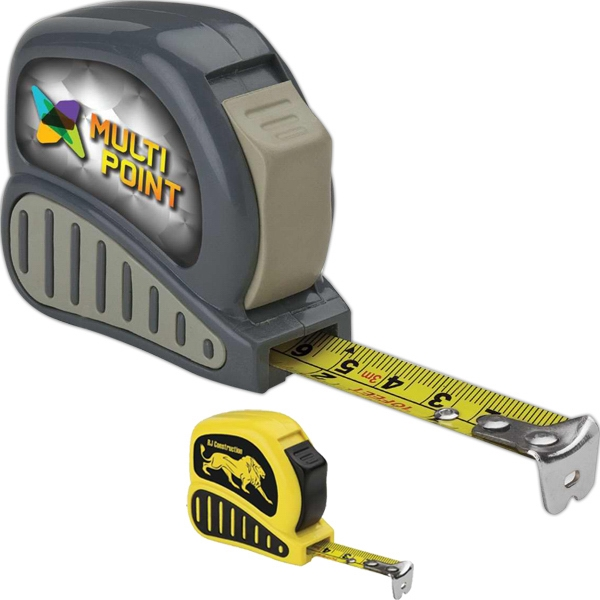 Economy Tape Measure With Rubber Grip, Power Lock And Belt Clip Photo