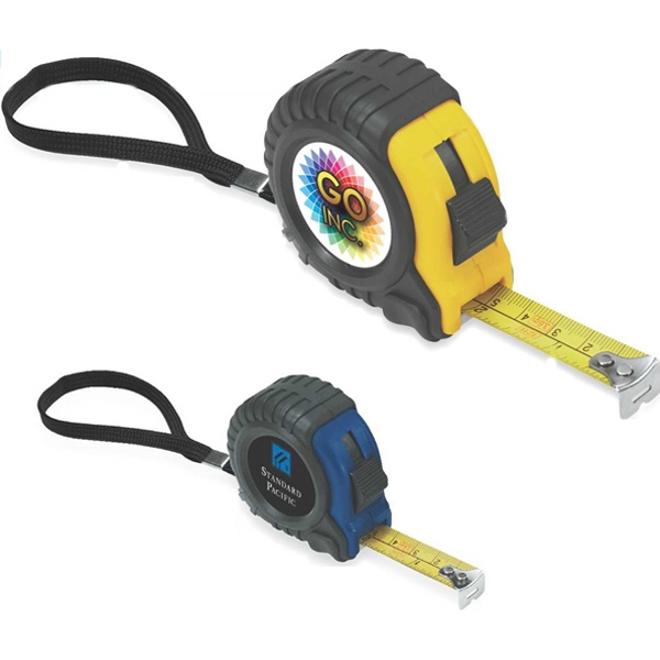 Tape Measure With Durable Plastic Case And Protective Rubber Sleeve Photo