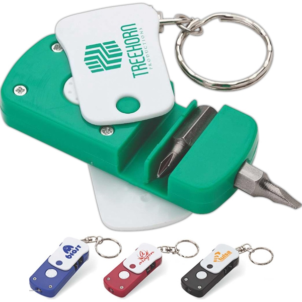 Screwdriver Led Keyring With Magnetic Bit Holder Photo