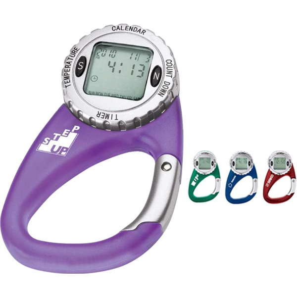 Four Function Rotating Watch Carabiner; Timer, Calendar, Countdown And Temperature Photo