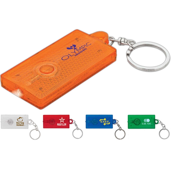 Reflector Light Keyring With Swivel Connector Photo