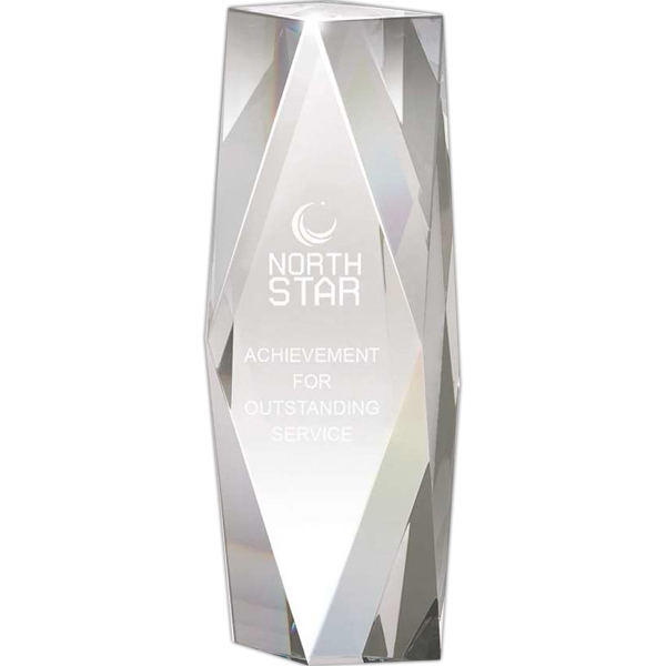 "2 1/2"" X 7 1/4"" X 1 3/4"" - Crystal Tower Award Photo"