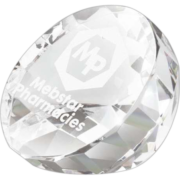 Crystal Award Shaped Like A Flat Cut Diamond Photo