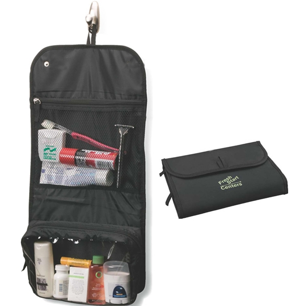 Folding Toiletry Bag With 2-snap Closure Photo