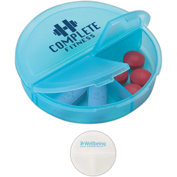 Pill Holder With One Large Compartment And Hinged Lids Photo