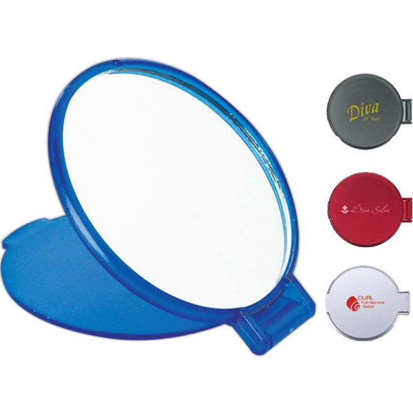 Pocket Mirror With Hinged Lid That Doubles As A Stand Photo