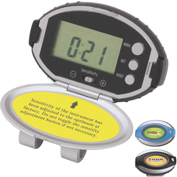 Deluxe Pedometer With Timer, Clock, Distance And Belt Clip Photo