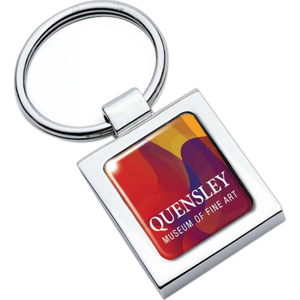 Square - Keyring With Full Color Dome Photo