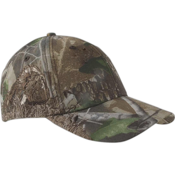 Authentic Wildlife Series (tm) - Camouflage Cap With Turkey Realtree (r) Hardwoods Green Hd (r) Pattern Photo