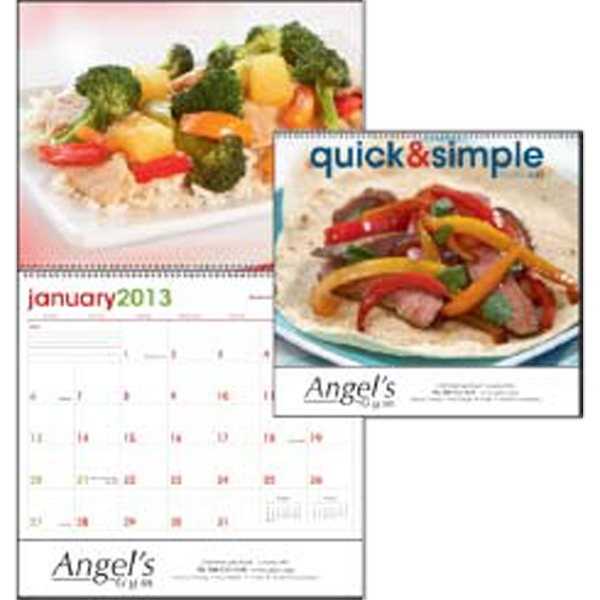 Quick & Simple - Delicious Dining Made Easy With These 12 Savory Recipes In A 2013 Calendar Photo