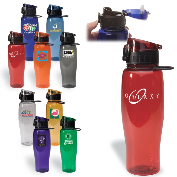 Bpa-free Water Bottle With Convenient Plastic Loop And Screw Off Lid Photo