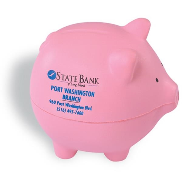 Pig Shaped Pink Stress Reliever Photo