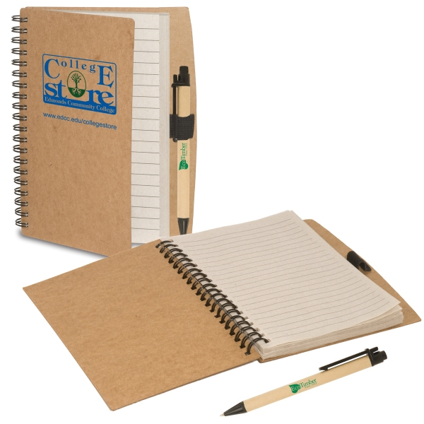 Eco-responsible (tm) Eco-note Keeper - Combination Eco-note Keeper And Eco-green Paper Barrel Pen Photo