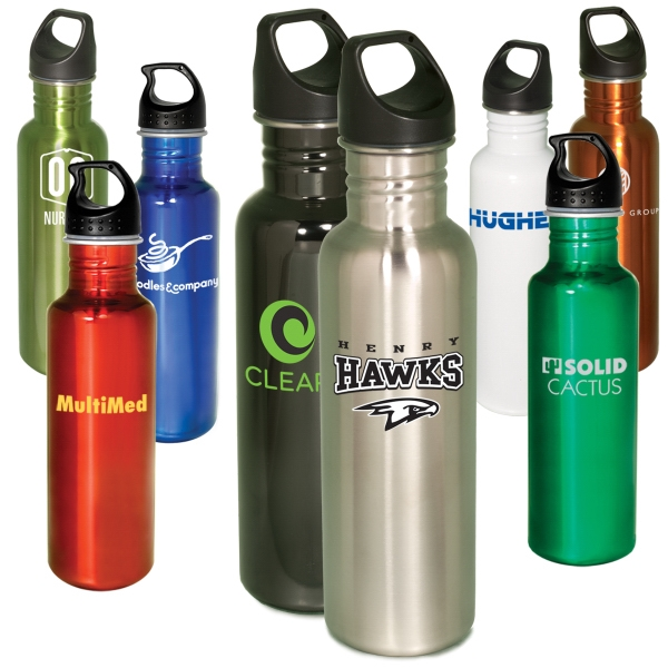 Streamline - 26 Oz. Stainless Steel Bottle With Screw Top Lid, Bpa Free Photo