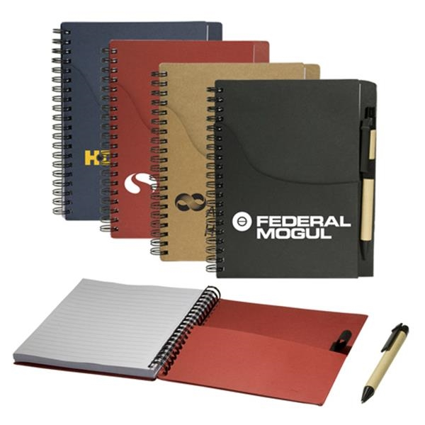 Eco-responsible (tm) Eco - Handy Jotter With Pockets And Pen Combo Photo