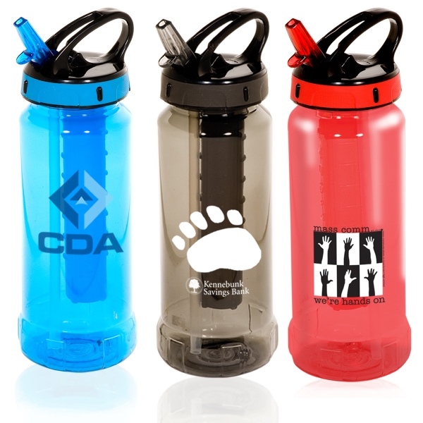 Cool Gear (tm) - 24 Oz. Pctg Plastic Hydrator Bottle With Flip And Flow Lid, Bpa Free Photo