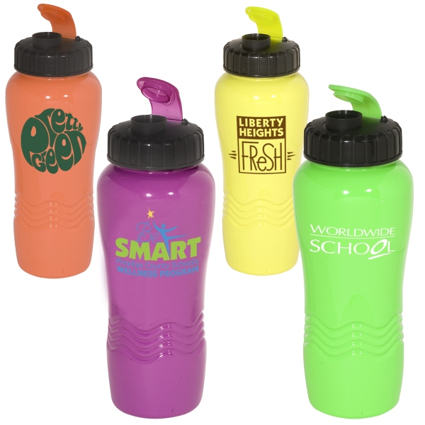 Polyclean (tm) Eco-responsible (tm) - 26 Oz. Polyclean (tm) Sipper Bottle With Wide Mouth. Closeout Photo