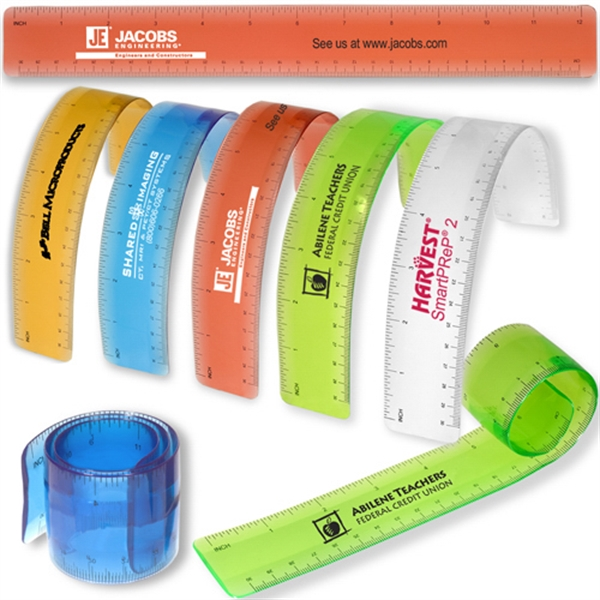 Bend-n-measure - Thin, Lightweight And Flexible Ruler, Allows You To Measure Around Curves. Closeout Photo
