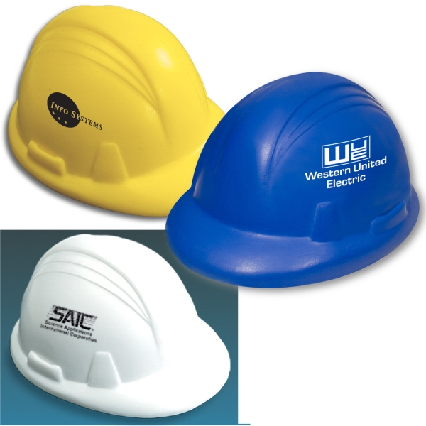 Hard Hat Shaped Stress Reliever Photo